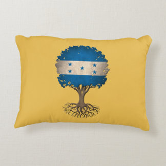 Honduras Flag Tree of Life Customizable Accent Pillow