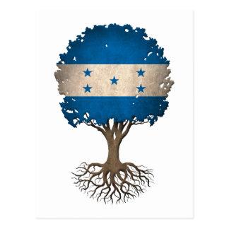 Honduras Flag Tree of Life Customizable Postcard