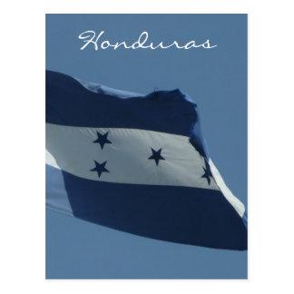 honduras flag vert postcard