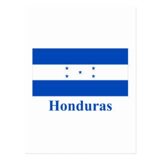 Honduras Flag with Name Postcard