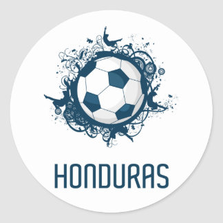 Honduras Football Classic Round Sticker