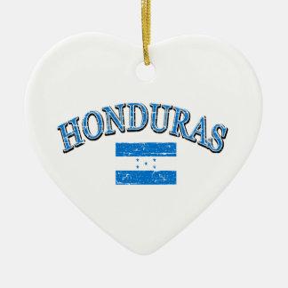 Honduras football design ceramic ornament