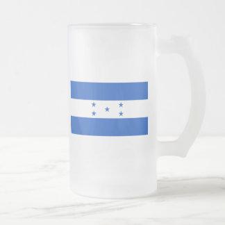 honduras frosted glass beer mug