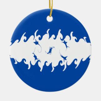 Honduras Gnarly Flag Ceramic Ornament