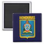 """Honduras Gold"" 2 Inch Square Magnet"
