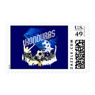 Honduras Grunge flag futbol festa soccer design Postage Stamps
