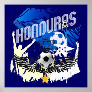 Honduras Grunge flag futbol festa soccer design Poster
