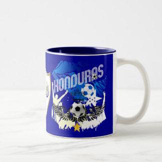 Honduras Grunge flag futbol festa soccer design Two-Tone Coffee Mug