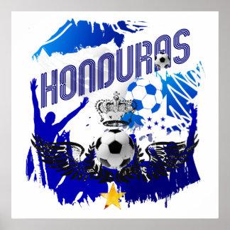 Honduras Grunge flag soccer futbol celebration Poster