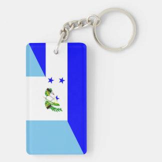 honduras guatemala country half flag symbol keychain