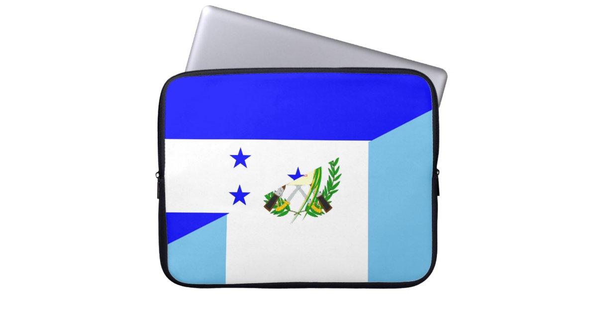 Honduras Guatemala Country Half Flag Symbol Laptop Sleeve Zazzle