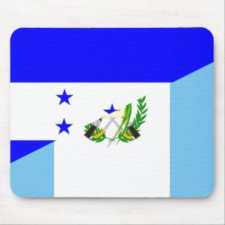 honduras guatemala country half flag symbol mouse pad
