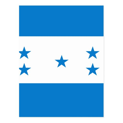 Honduras High quality Flag Postcards