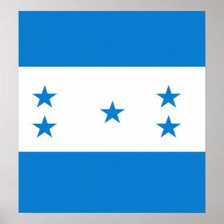 Honduras High quality Flag Poster