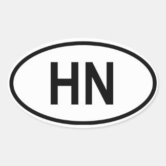 "Honduras ""HN "" Pegatina Ovalada"