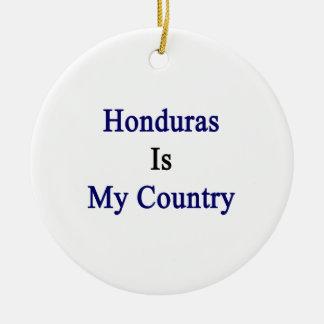 Honduras Is My Country Christmas Tree Ornament