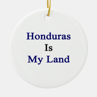 Honduras Is My Land Christmas Tree Ornament