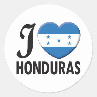 Honduras Love Classic Round Sticker