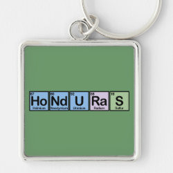 Premium Square Keychain with Honduras design