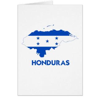 HONDURAS MAP GREETING CARD