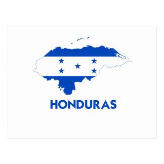 HONDURAS MAP POST CARD