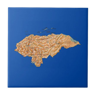 Honduras Map Tile