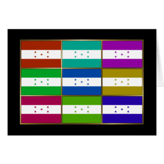 Honduras Multihue Flags Greeting Card