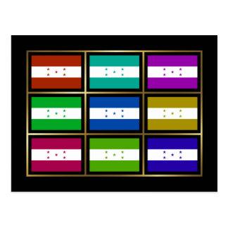 Honduras Multihue Flags Postcard