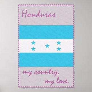 Honduras My Country My Love Poster