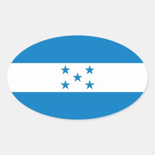 Honduras National Flag Oval Sticker