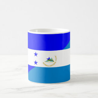 honduras nicaragua country half flag coffee mug