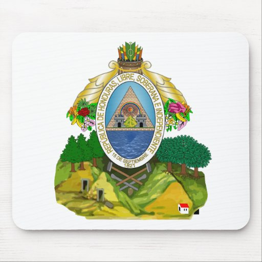 Honduras Official Coat Of Arms Heraldry Symbol Mouse Pad