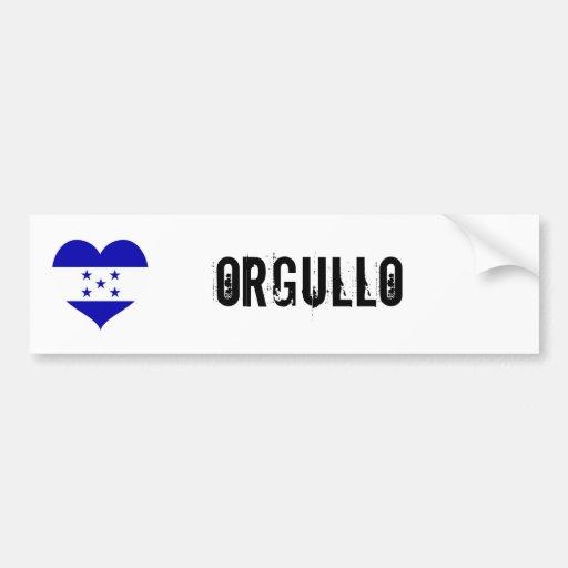 Honduras Orgullo (orgullo) Pegatina Para Auto