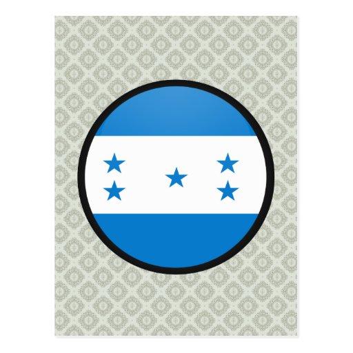 Honduras quality Flag Circle Postcard