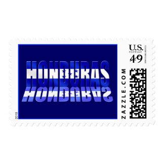 Honduras reflection logo Honduran flag gift ideas Postage Stamp