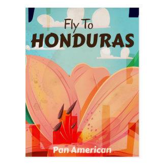 Honduras Retro Vintage vacation Poster Postcard