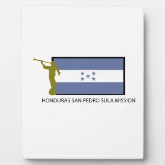 HONDURAS SAN PEDRO SULA MISSION LDS CTR DISPLAY PLAQUE