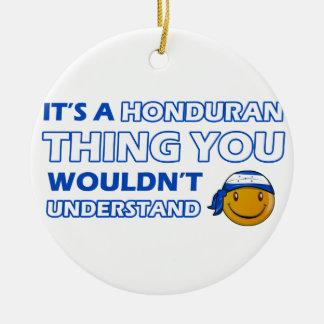 honduras Smiley Designs Ceramic Ornament