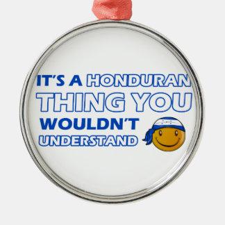 honduras Smiley Designs Metal Ornament