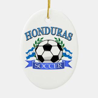 Honduras soccer ball designs ceramic ornament