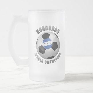 HONDURAS SOCCER CHAMPIONS FROSTED GLASS BEER MUG