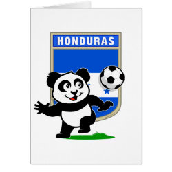 Greeting Card with Honduras Football Panda design