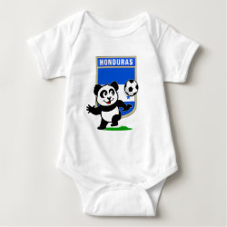 Baby Jersey Bodysuit with Honduras Football Panda design