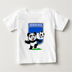 Baby Fine Jersey T-Shirt with Honduras Football Panda design