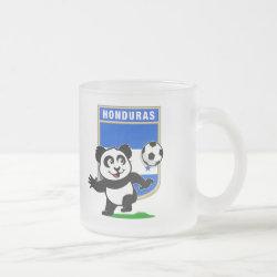 Frosted Glass Mug with Honduras Football Panda design
