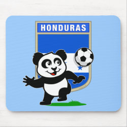 Mousepad with Honduras Football Panda design