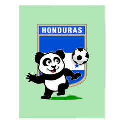 Postcard with Honduras Football Panda design