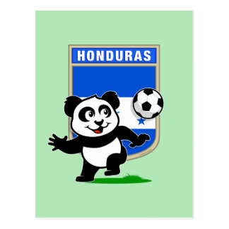Honduras Soccer Panda Postcard