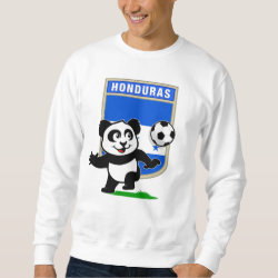 Men's Basic Sweatshirt with Honduras Football Panda design