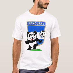 Men's Basic T-Shirt with Honduras Football Panda design